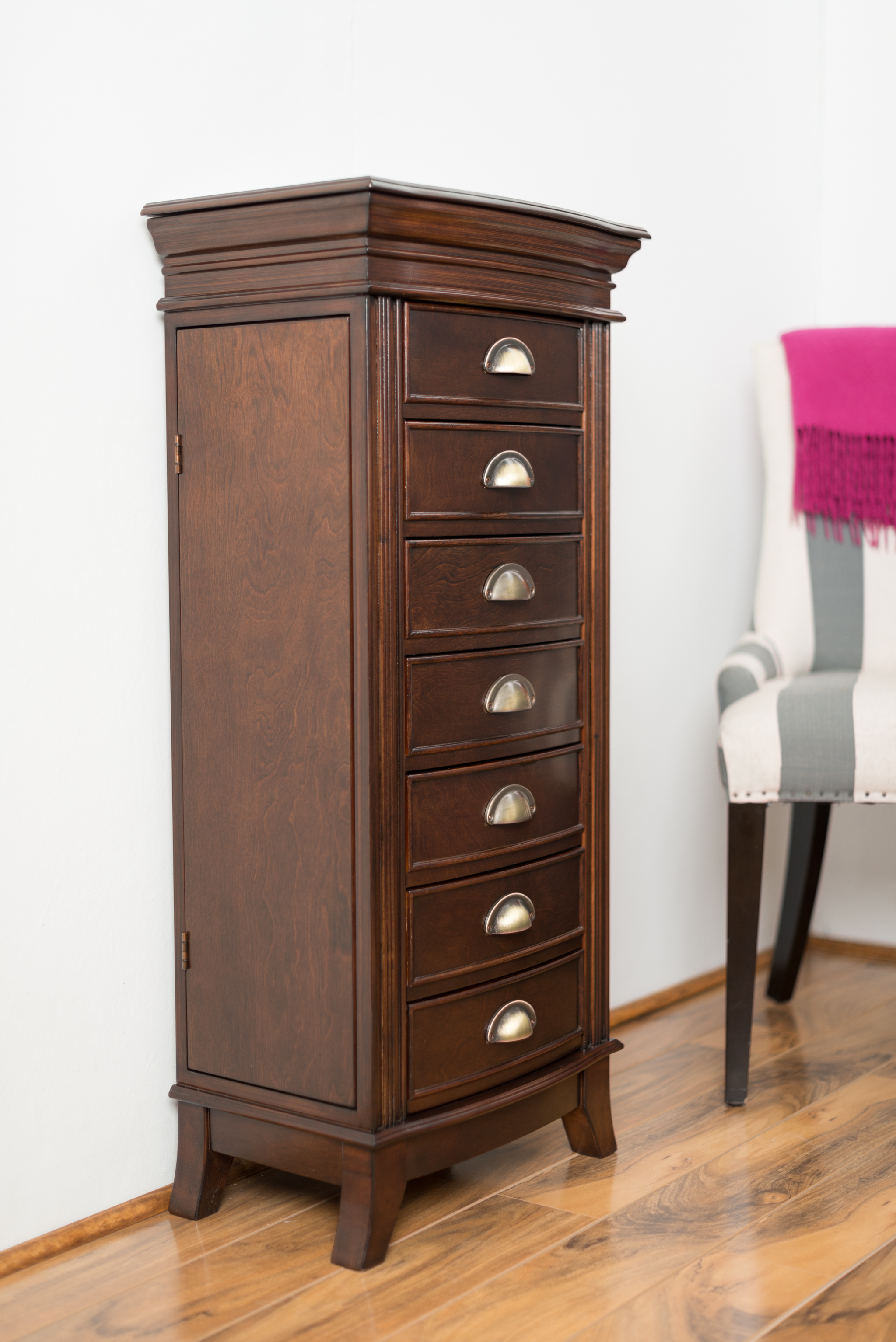 Hillary Jewelry Armoire ~ Rich Walnut – Hives and Honey