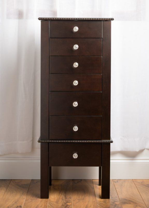 Hannah Jewelry armoire in Espresso