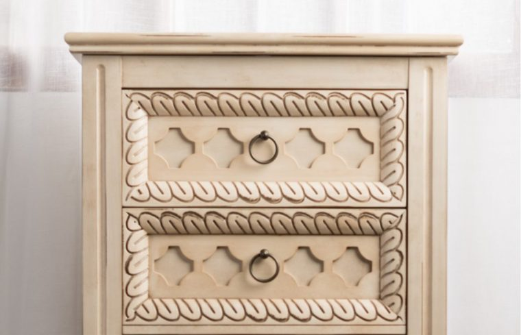 "Shabby Chic ""abby"" Jewelry armoire in vintage white"
