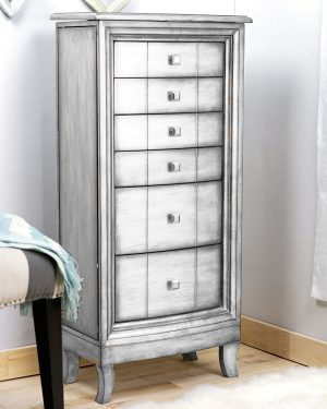 Natalie Silver Jewelry Armoire - Hives & Honey