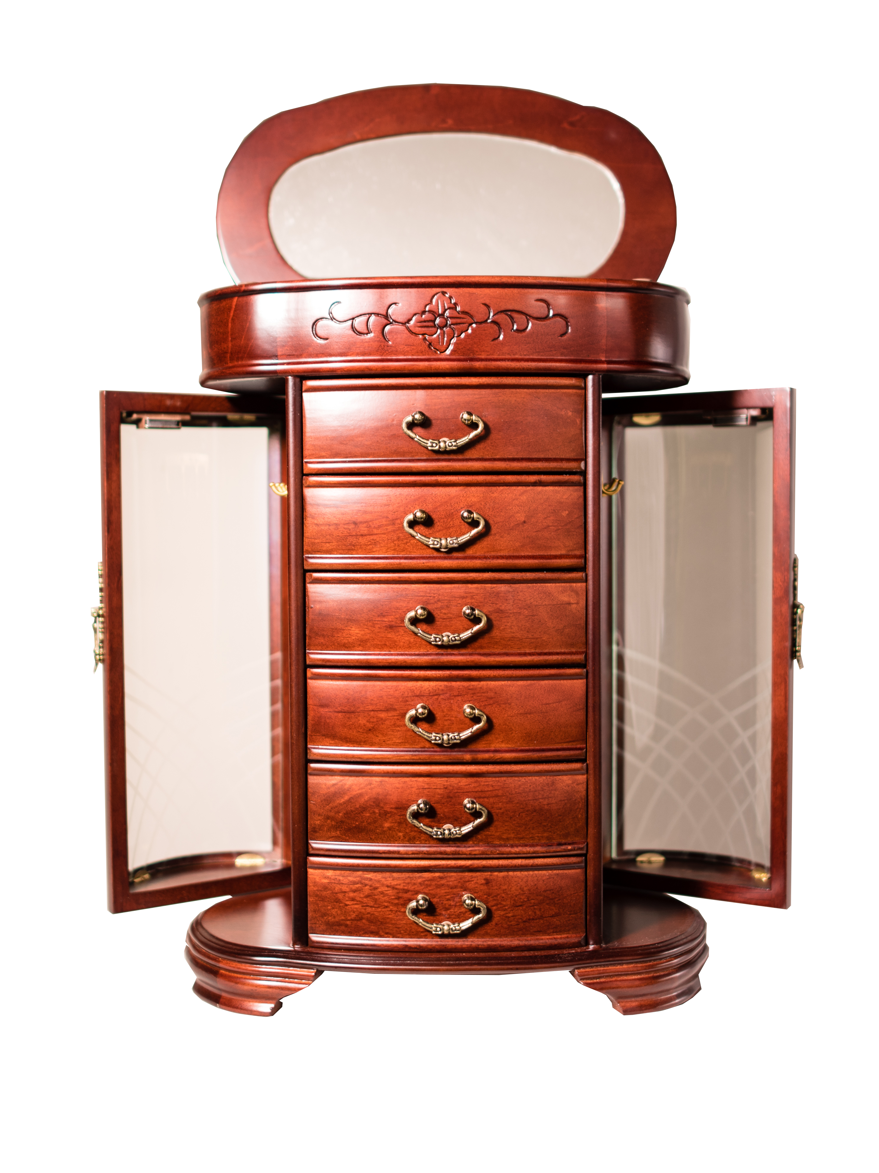 Patricia Jewelry Cabinet Dark Cherry Hives And Honey