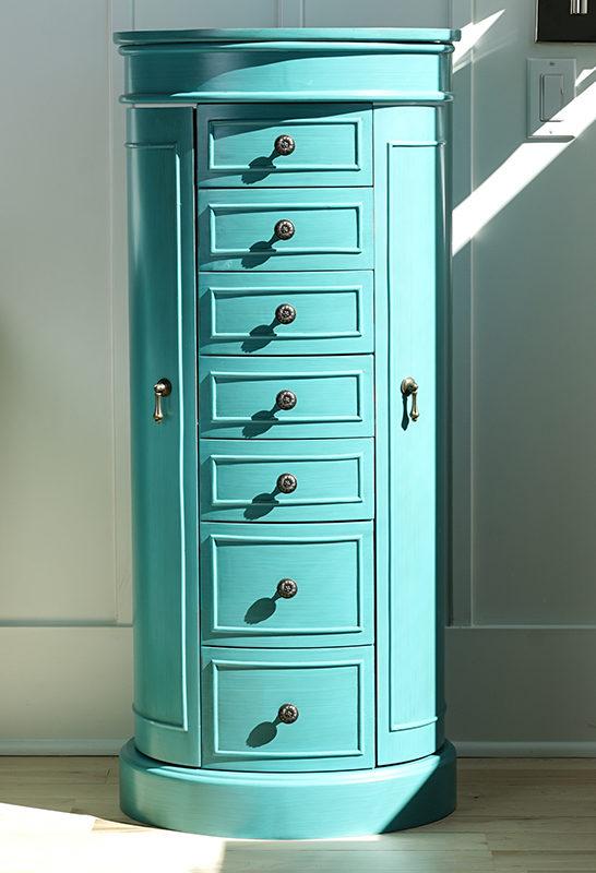 Sabrina Jewelry Armoire Turquoise