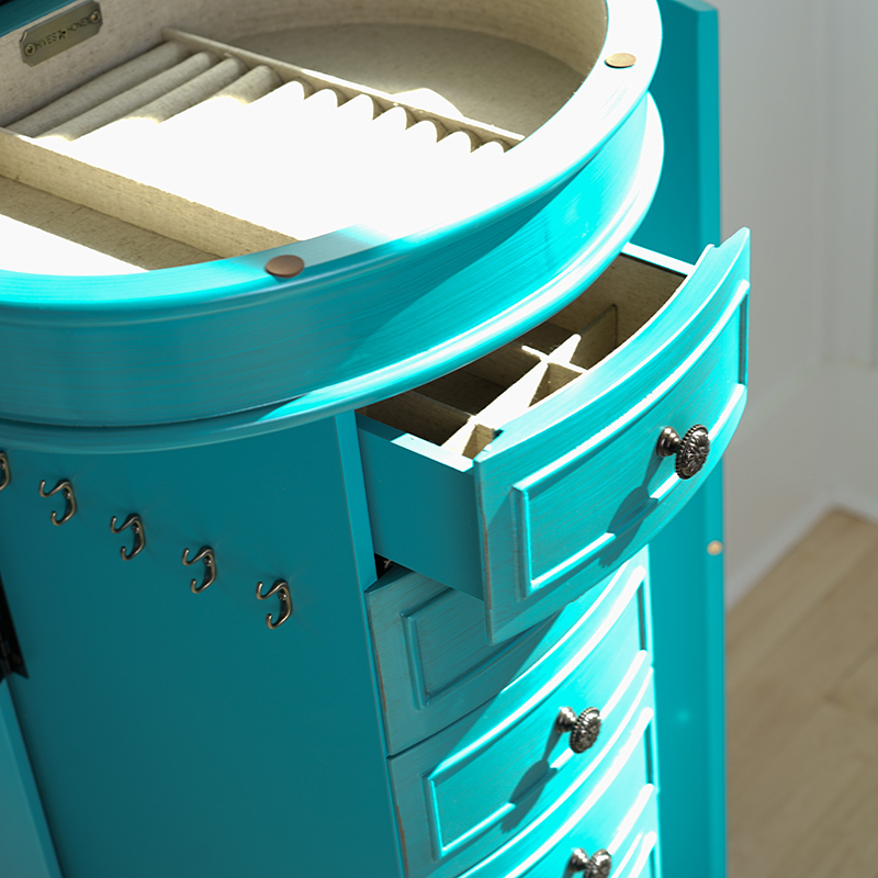 Sabrina Jewelry Armoire Turquoise Hives And Honey