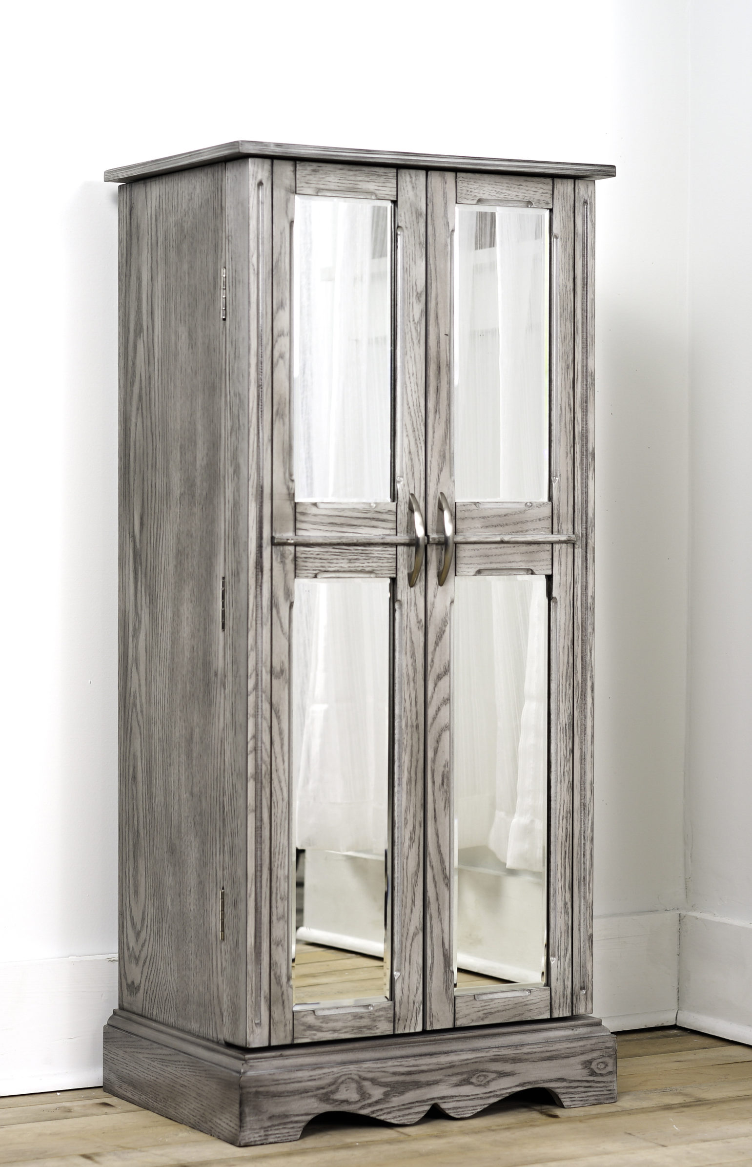 Image of: Chelsea Standing Jewelry Armoire Smoke Grey Hives And Honey