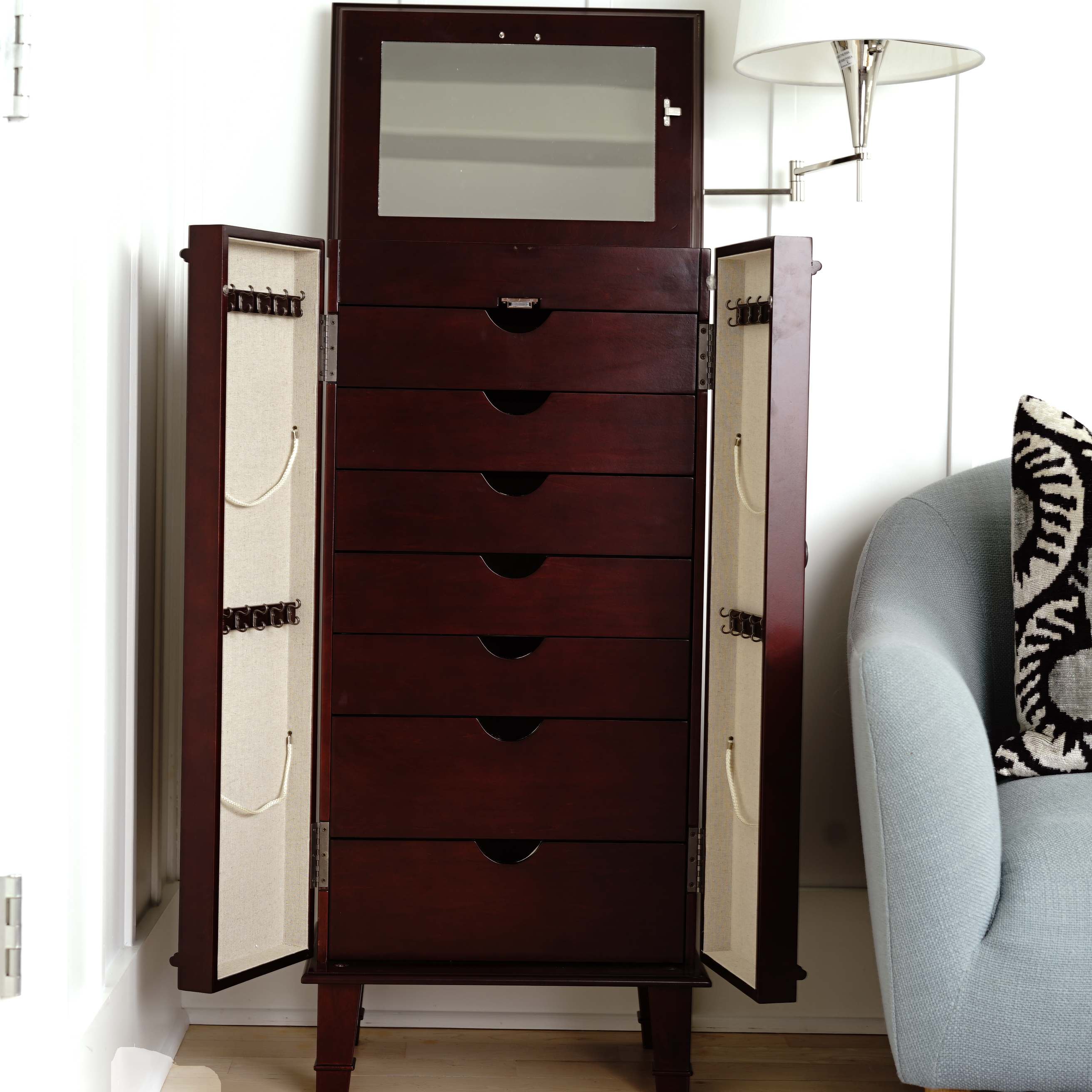 Cabby Jewelry Armoire ~ Cherry – Hives and Honey