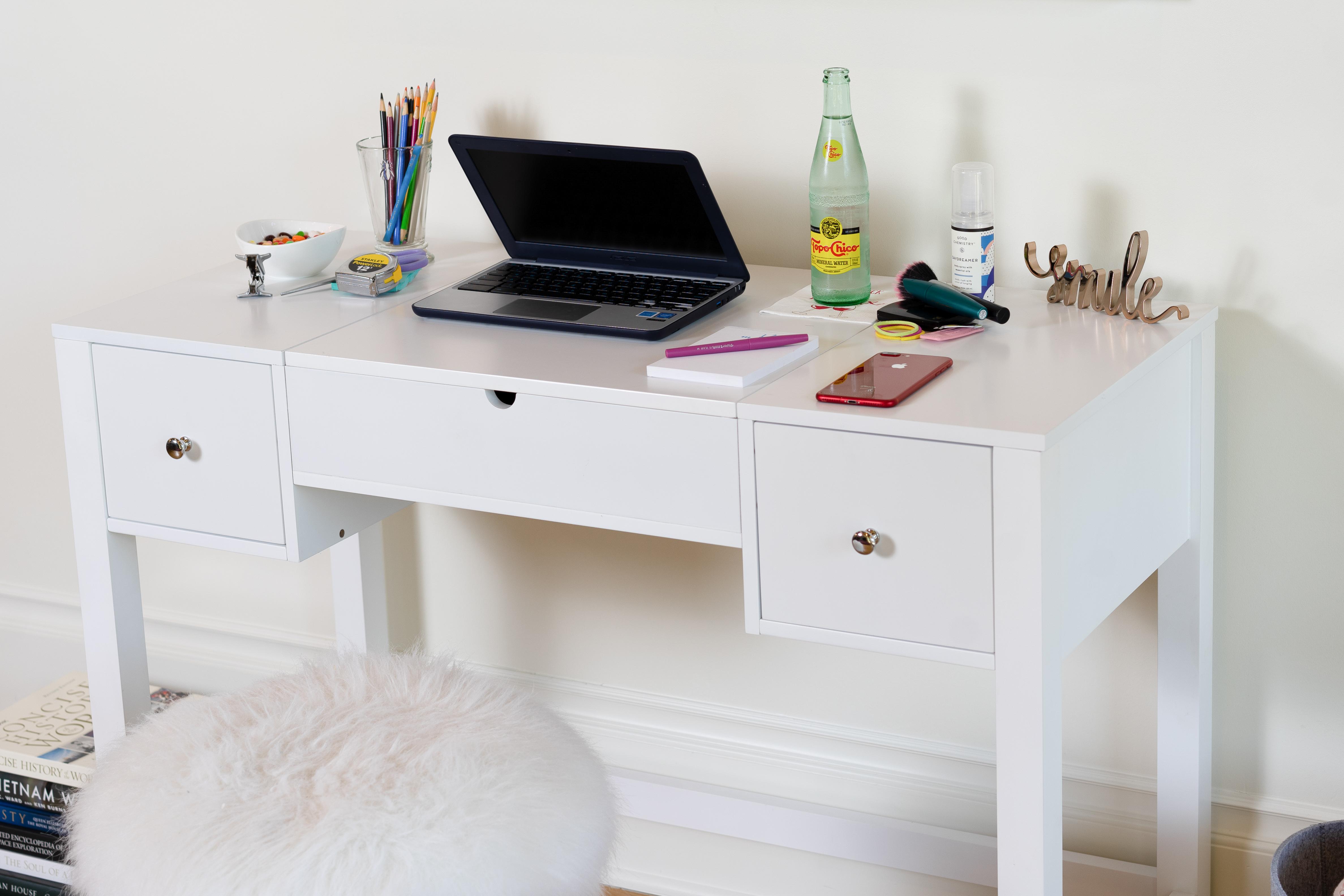 Harley Vanity Desk Crisp White Hives And Honey