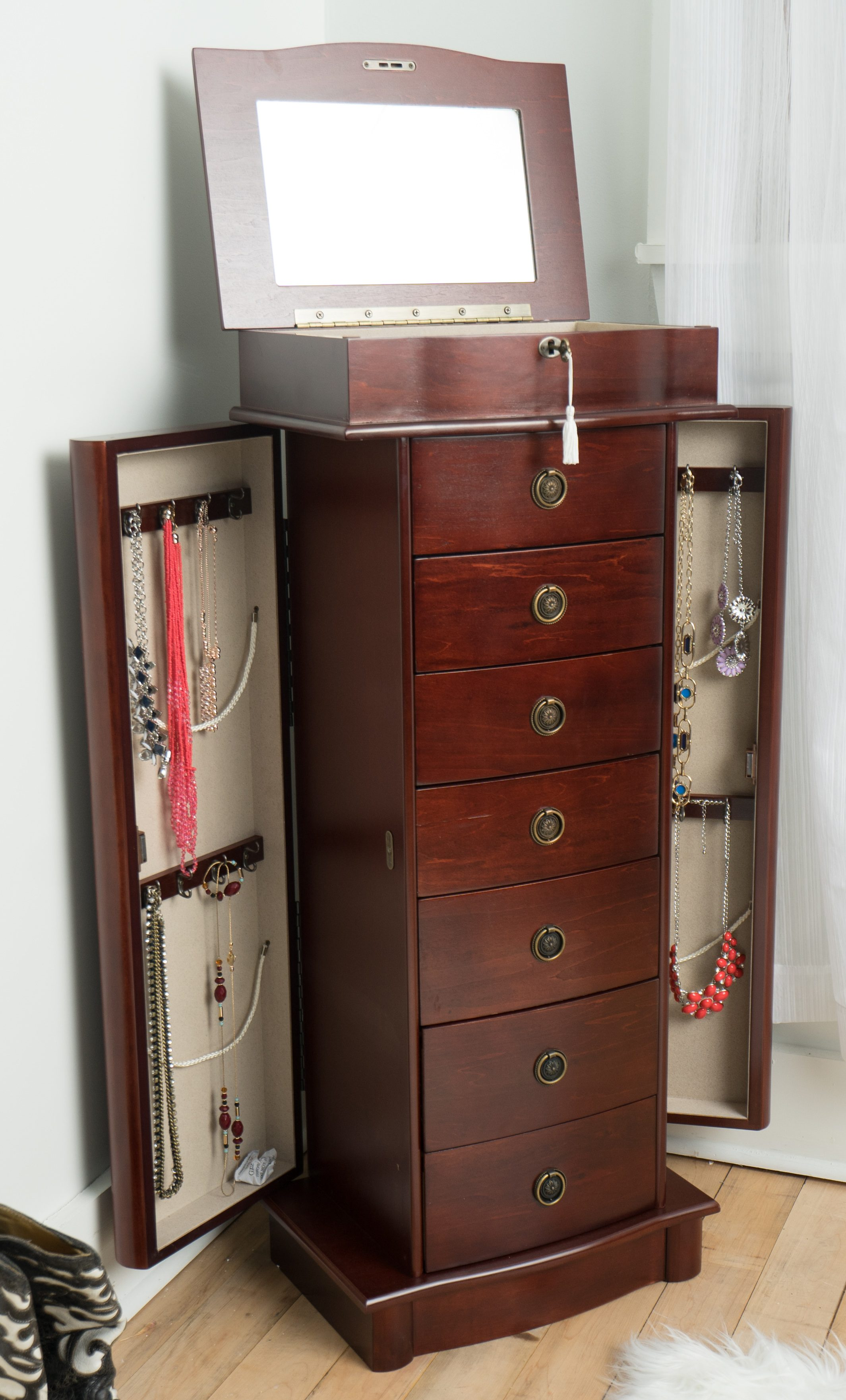 Naomi jewelry armoire cherry